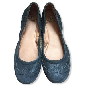 Lucky Brand Black Leather Flats size 8.5